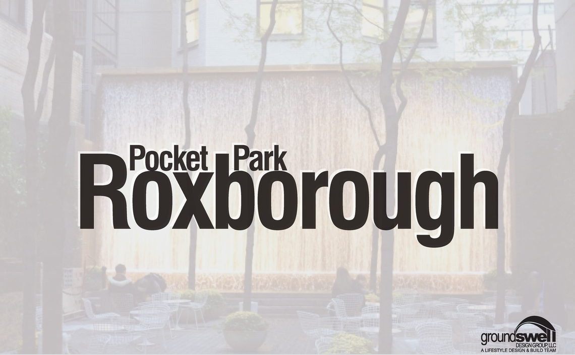 Photo: Roxborough Pocket Park Title Page