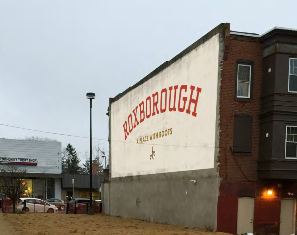 Photo: Roxborough logo sample mural application