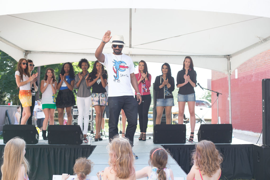 Photo: Fashion show organized at Roxborough Pocket Park