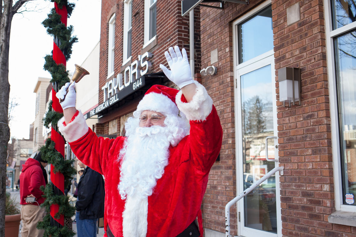 Photo: Santa Claus greets visitors along Ridge Avenue in Roxborough