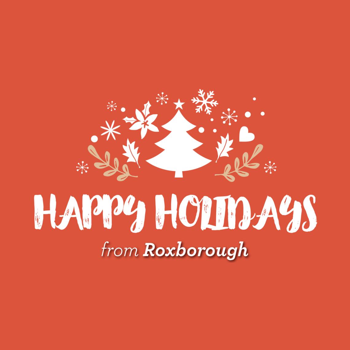 Photo: happy holidays from roxborough logo