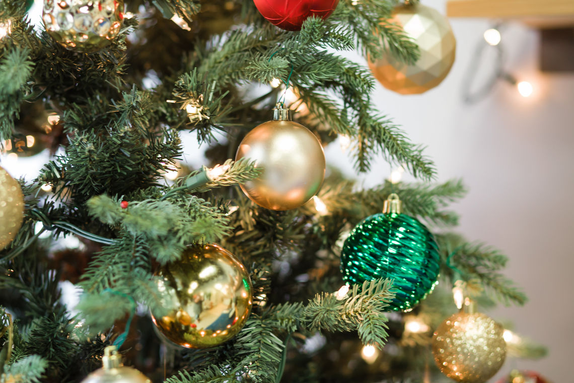 Photo: Beautifully decorated Fraser Fir
