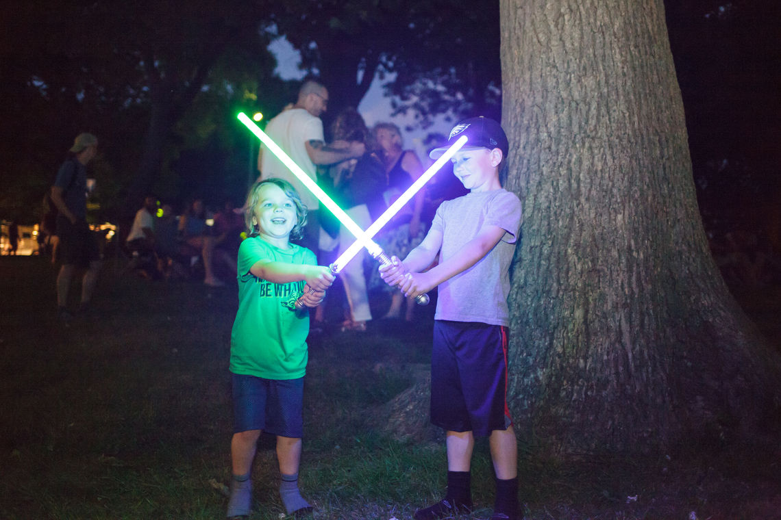 Photo: Roxborough Solstice Music Festival Light Saber Battle