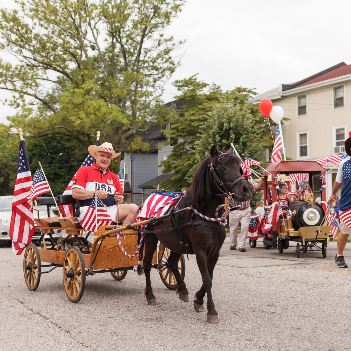Photo: roxborough residents celebrate during our country s oldest independence day parade marking it s 326th anniversary