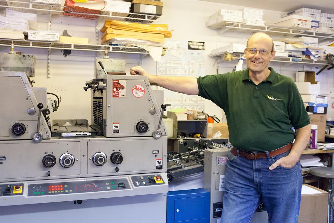 Engineering Printing In Philadelphia - Photo john davis sr next to his print in press