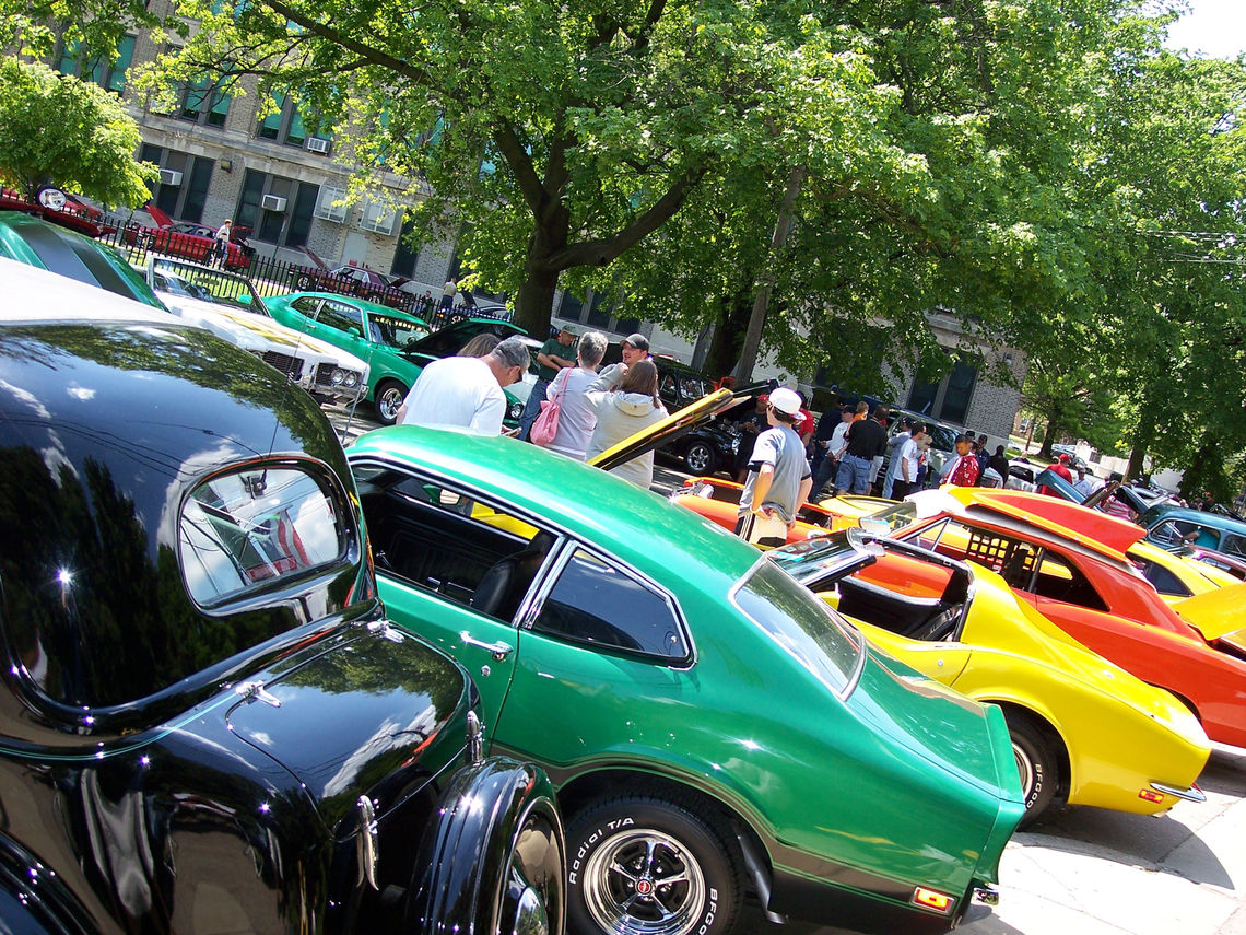 Photo: Cars line Ridge Avenue in Roxborough for the Rockin' The Ridge Car Show