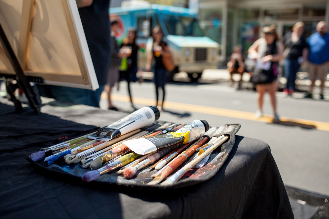 Photo: Live painting at Art Is Life
