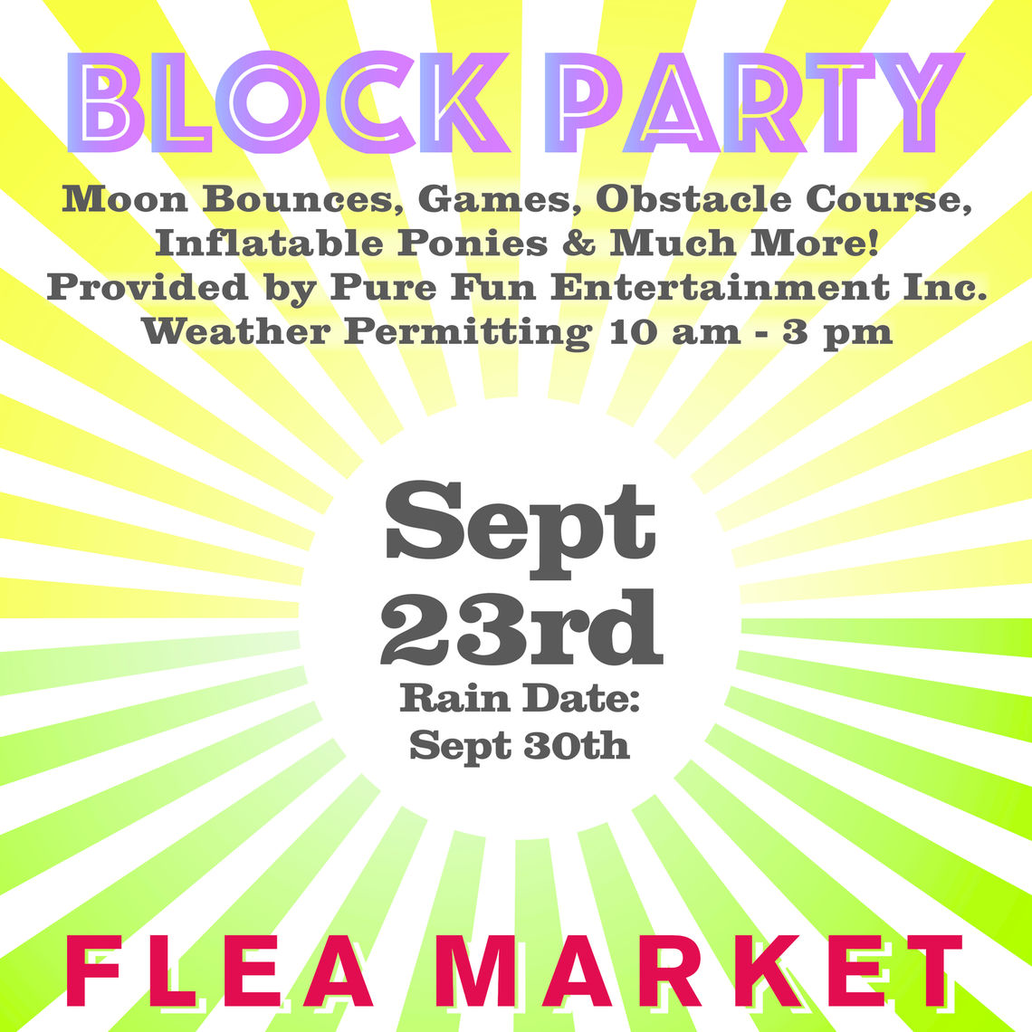 Photo: block party poster 3