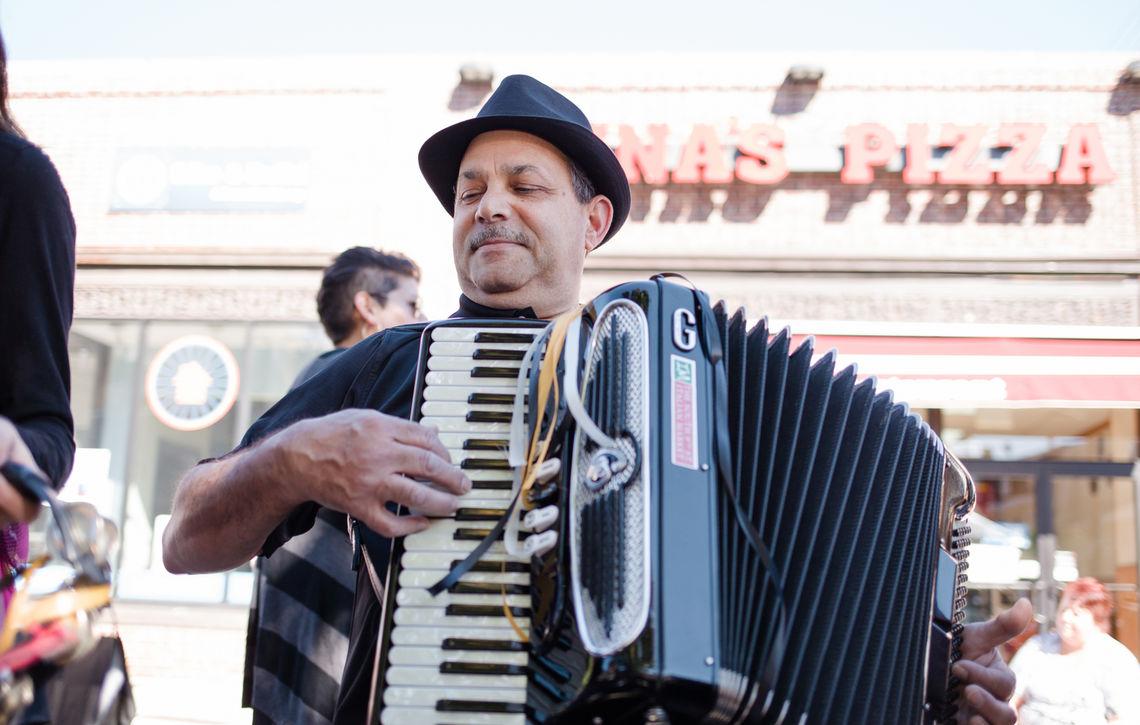 Photo: Local Accordionist Ralph Salerno Celebrates Roxtoberfest