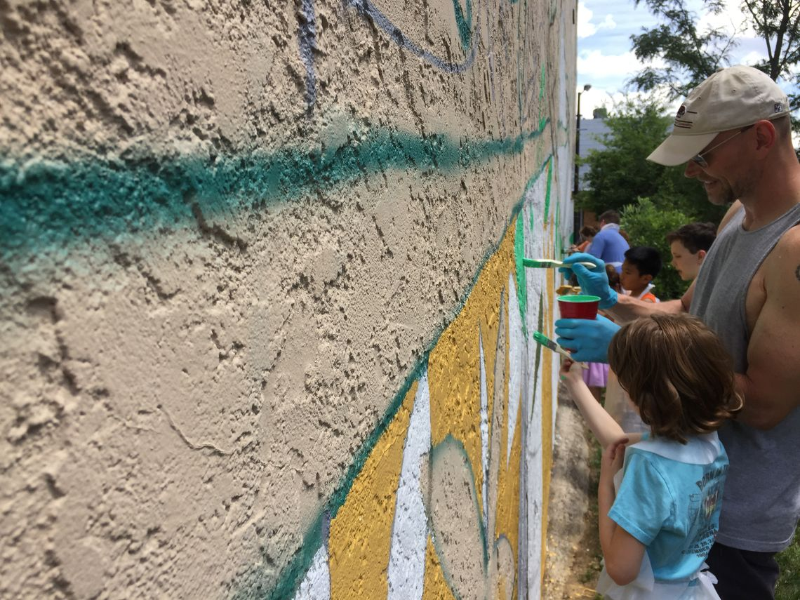Photo: Community paint day at the Roxborough Pocket Park