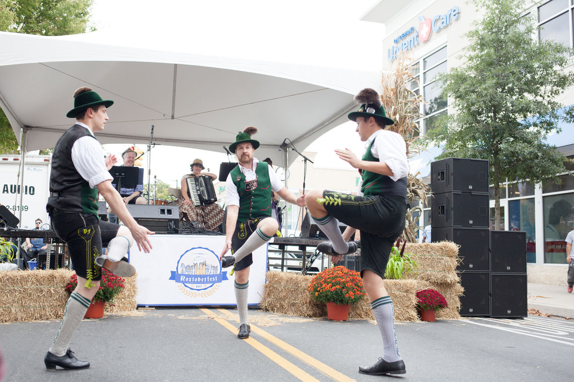 Photo: German Folk dance performance during the 5th annual Roxtoberfest Street Festival