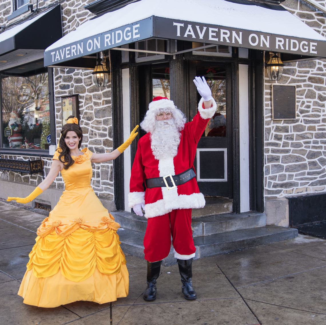 Photo: Santa and Belle visiting Tavern on Ridge during the Happy Holidays From Roxborough Event Series