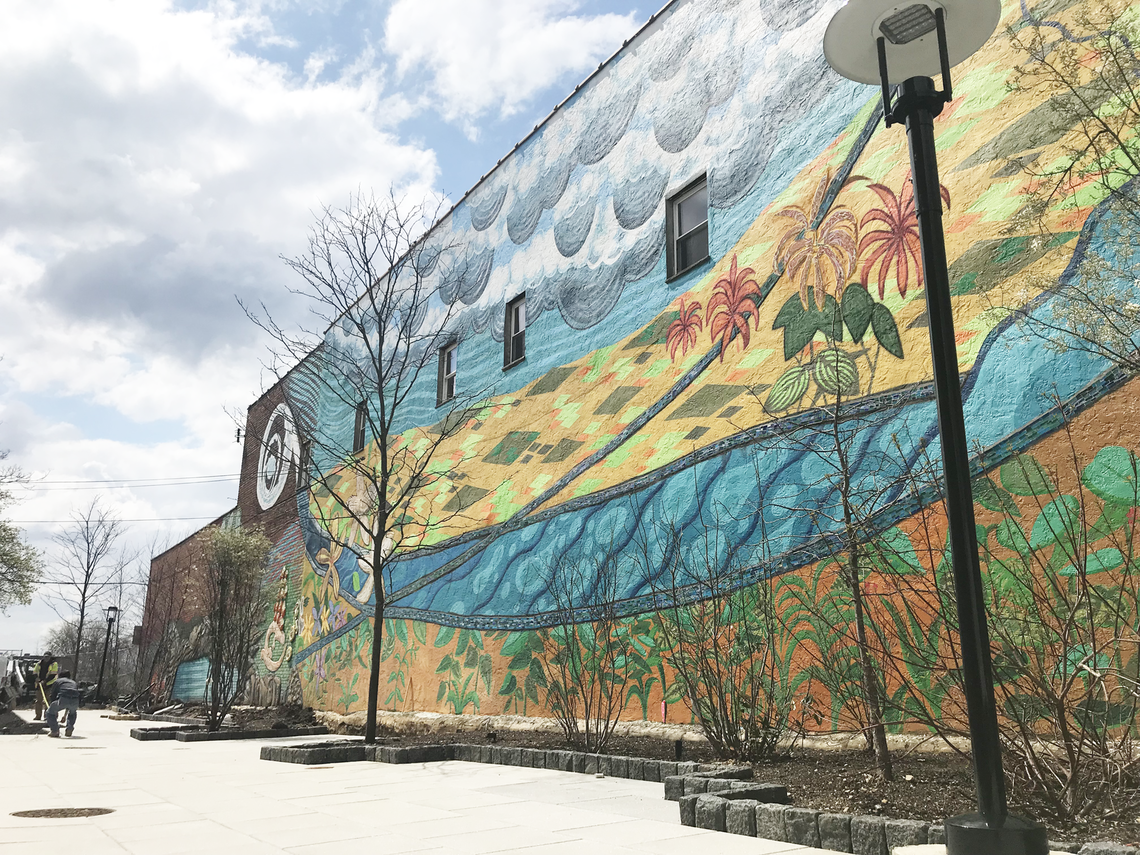 Photo: roxborough pocket park opens to the public during art is life