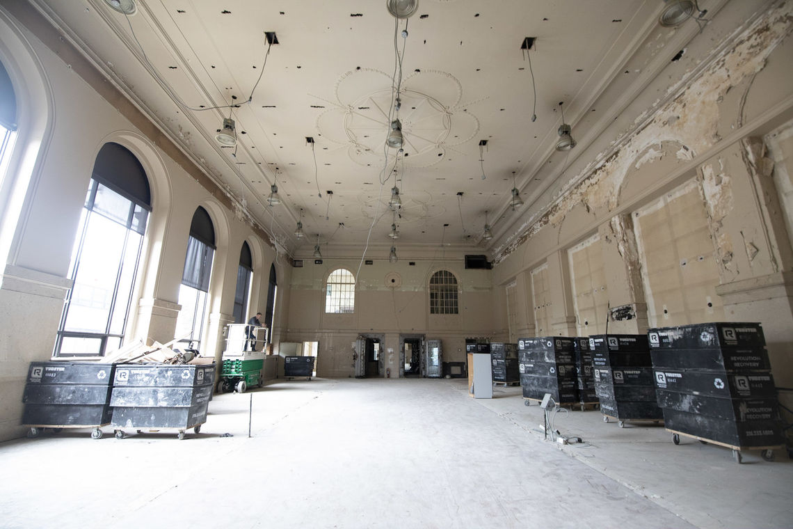 Photo: An interior view of the Roxborough Trust Company building at Ridge Avenue and Green Lane