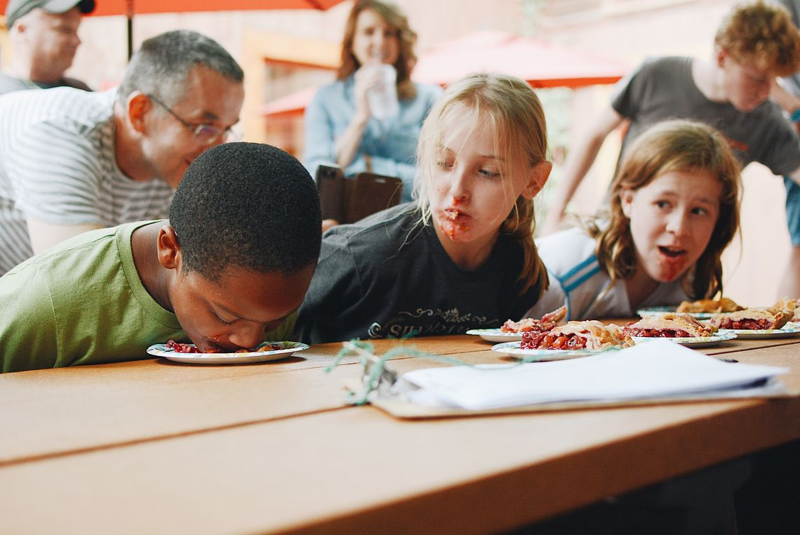 Photo: Roxtoberfest Children's Pie Eating Contest