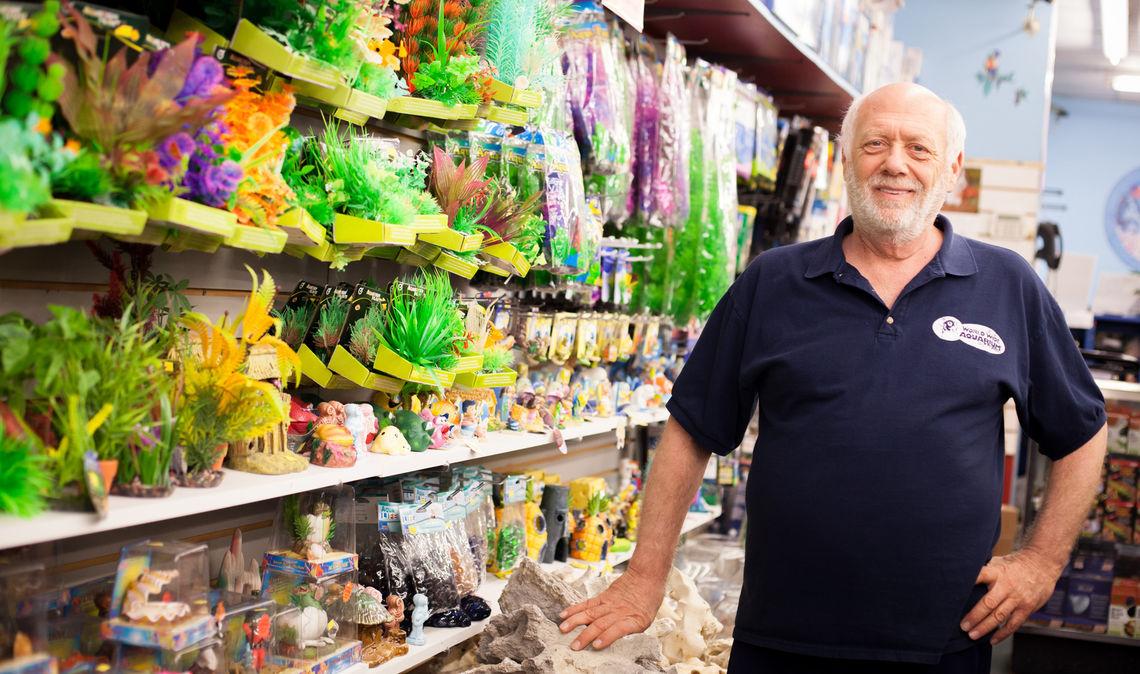 Photo: Jeff Rudner owner and operator of Worldwide Aquarium & Pets 7043 Ridge Avenue