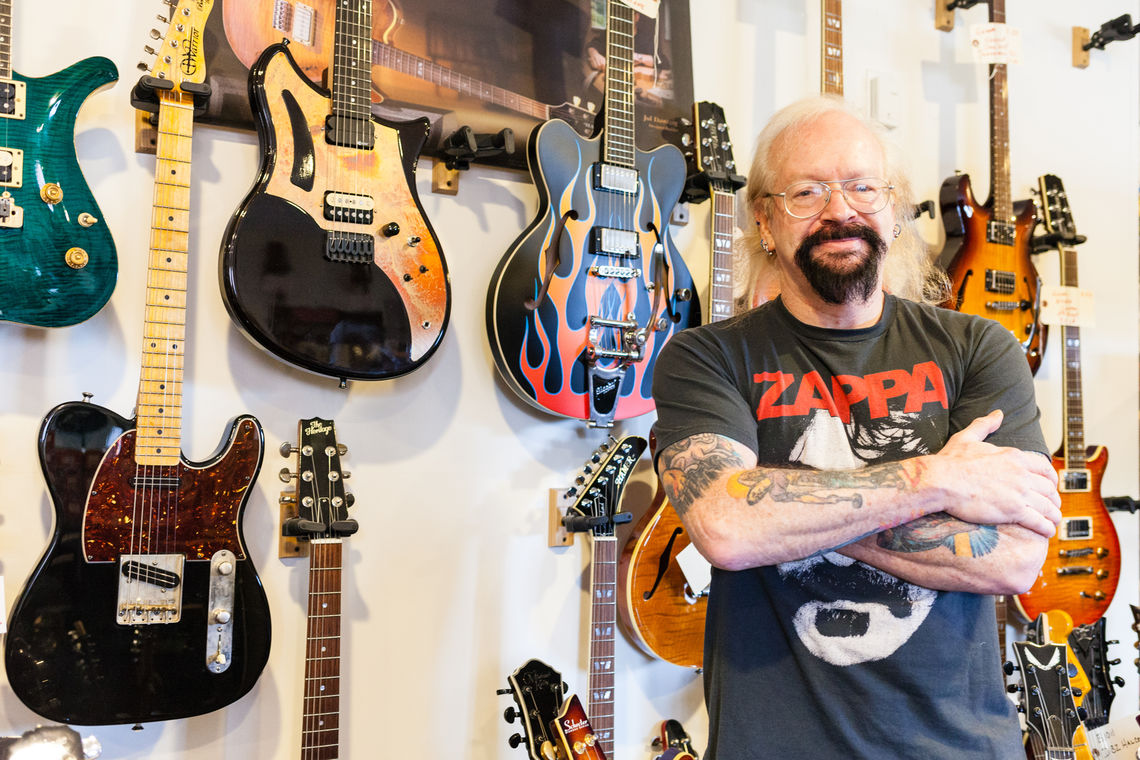 Photo: Lou Mueller Owner and Operator of Roxy Guitar 7026 Ridge Avenue