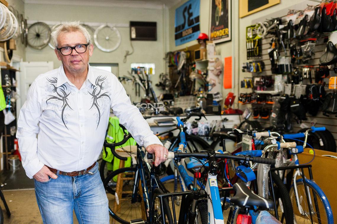 Photo: Joe Barr owner and operator of Barr's Bikes 5548 Ridge Avenue