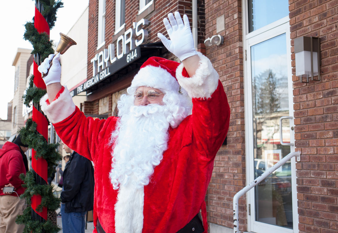 Photo: Santa Claus visits Ridge Avenue during the Happy Holidays From Roxborough event series in 2017