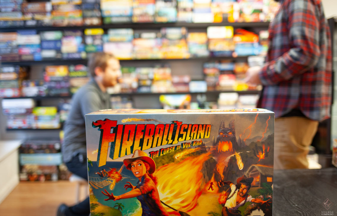 Photo: Fireball Island: The Curse of Val-Kar is one of many adventure board games to be featured at the cafe