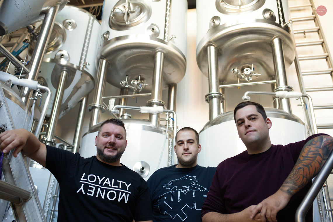 Photo: Three best friends, Vince DesRosiers and brothers Chris and Eric Endrikat offered a behind the scenes look at their project to bring Ridge Avenue its first brewery and restaurant, New Ridge Brewing