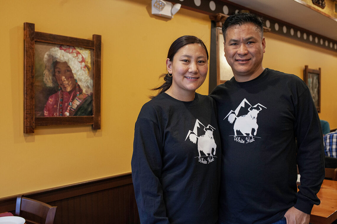 Photo: White Yak owners Trelay and Tsering Parshingtsang.